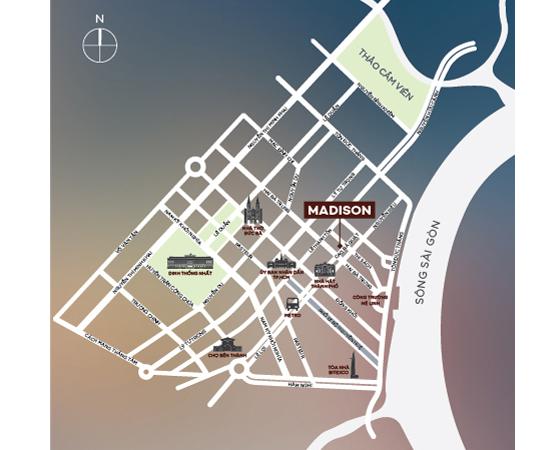 vị trí khu madison
